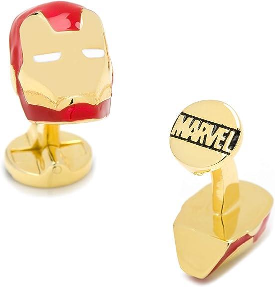 Paire de boutons de manchette Iron Man Super Hero pour homme