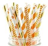 Thanksgiving Dinner Straws (25 Pack) - Fall Leaf