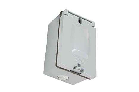 Amazon Com Weatherproof Duplex Receptacle Box With Hinged Cover