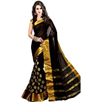 GLE Women's Art Silk Sarees (MORE THAN 20 COLORS & DESIGNS)