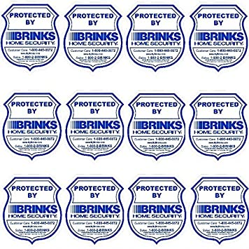 Home Security Stickers Window signs For Brinks Alarm System Outdoor Water proof