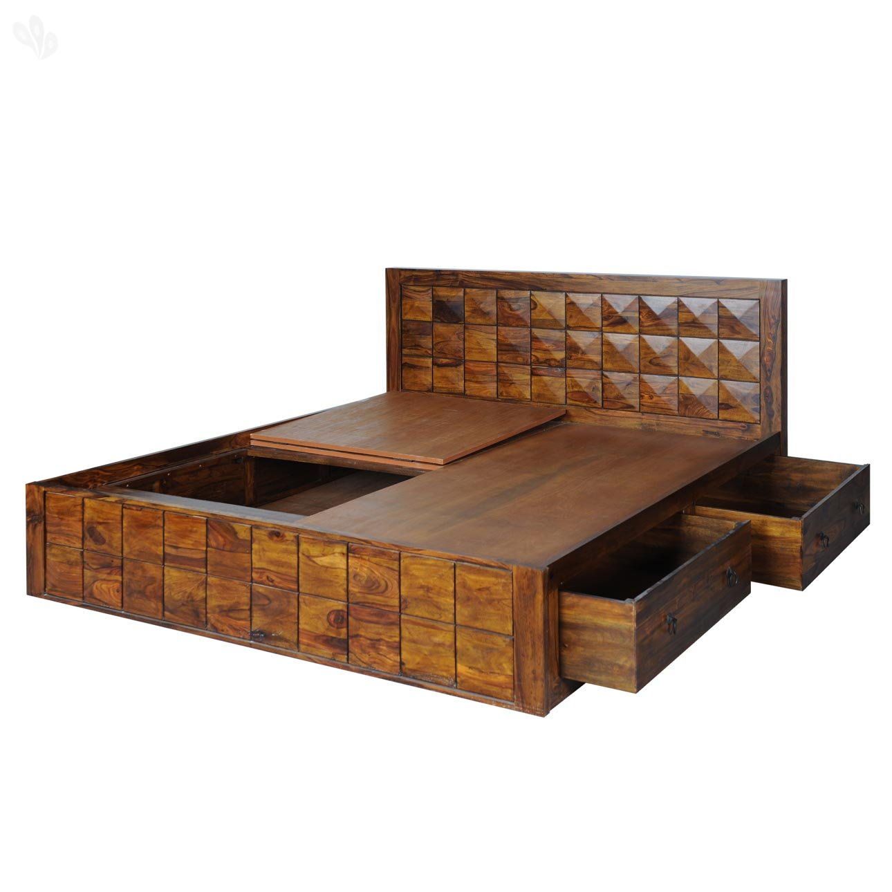 Beautiful Royal Oak Sapphire King Size Bed With Storage (Natural): Amazon.in: Home U0026  Kitchen