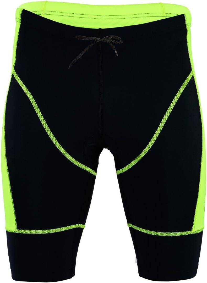 ProAthletica Mens Triathlon Shorts Tri Cycling Run Swim Coolmax Padded Compression Shorts