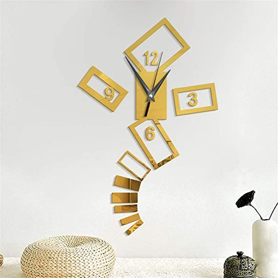 Amazon.com: PQPQPQPQ Diy Creative Black And White Digital Block Tv Wall Stickers Portfolio Clock Decoration Wall Clock For Living Room Bedrooms Office: Home ...