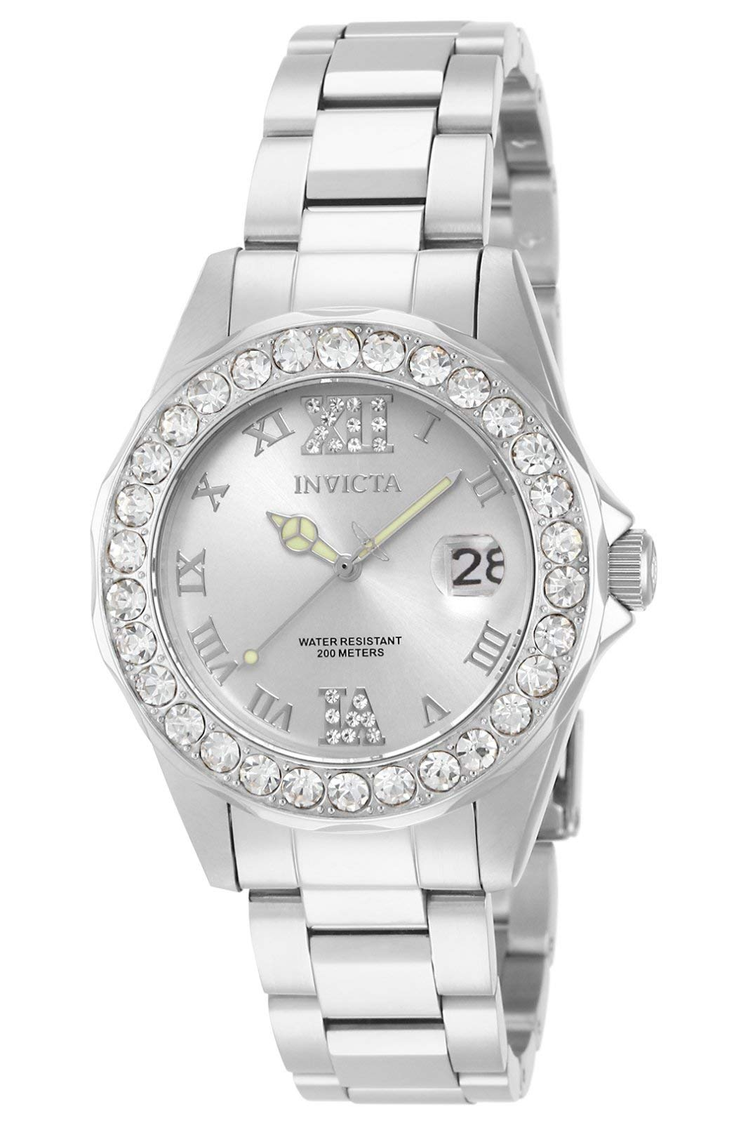 Women's Pro Diver 38mm Stainless Steel Quartz Watch, Silver (Model: 15251)