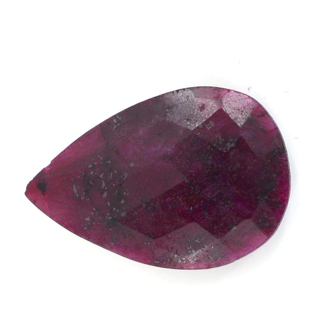 skyjewels 26.70 Cts Pear Faceted Certified Ruby Loose Gemstone