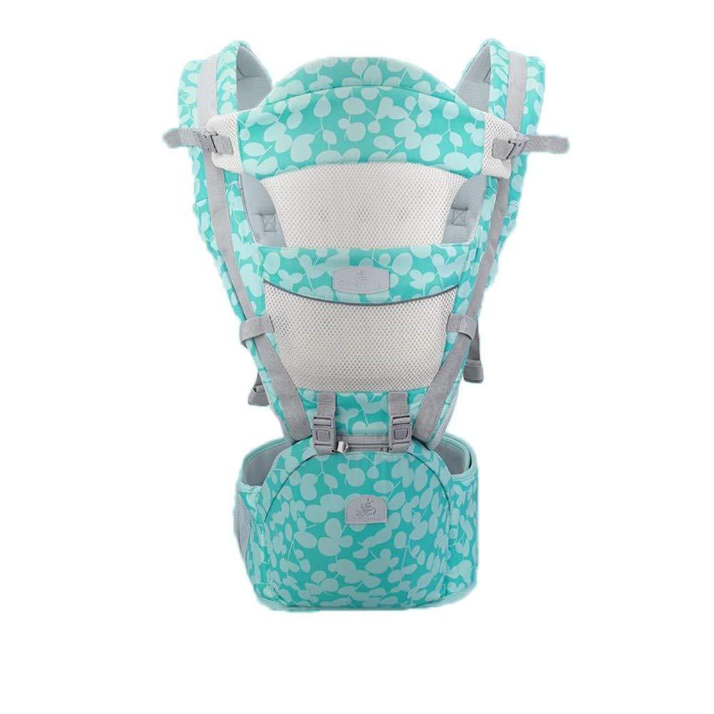 Atmungsaktive Multifunktions-Babytrage bis zu 3 Jahren (10-50 lbs), ergonomische Tragepositionen, Mintgrün