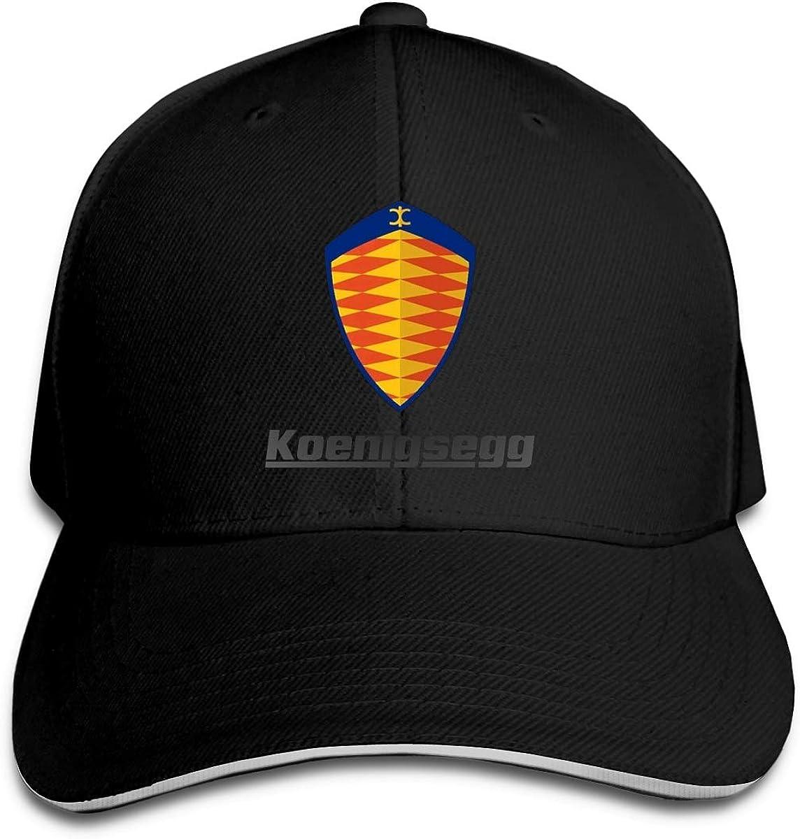 Koenigsegg Casquette de baseball en polyester Unisexe Toutes les saisons sont confortables et respirantes