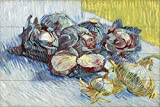 Tile Mural Still life red cabbages and onions vegetables by Vincent van Gogh Kitchen Bathroom Shower Wall Backsplash Splashback 6x4 4.25'' Ceramic, Matte