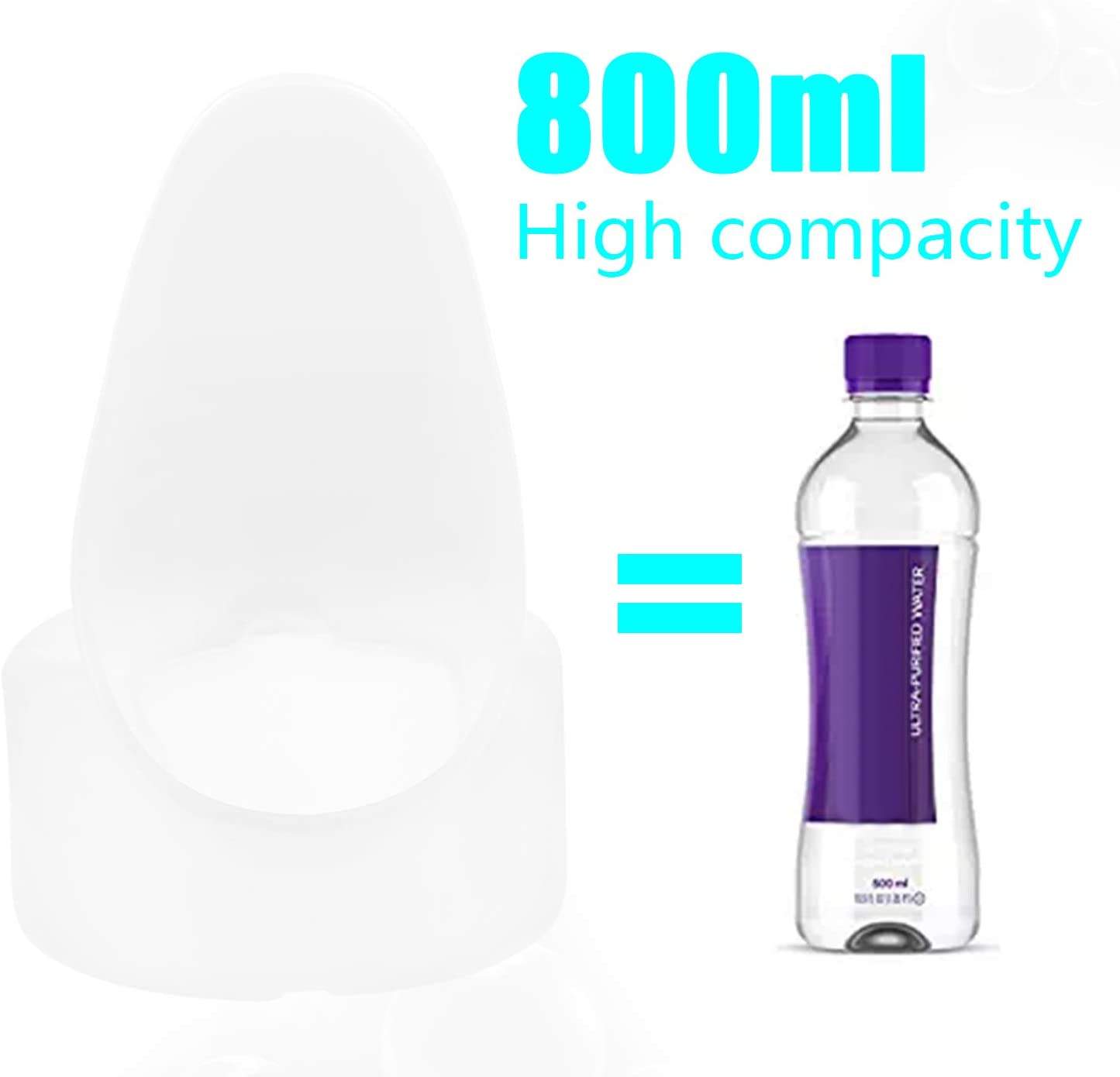 lazada hembra orinal port/átil Hospital viaje coche emergencia Pee botella 800/ml Transparent white Female