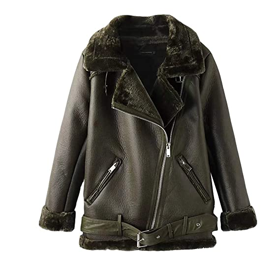 Newbestyle Jacke Damen Übergangsjacken V Ausschnitt Kleidung Mantel Fell Winterjacke Jacket Wintermantel Top Coat mit Schräge