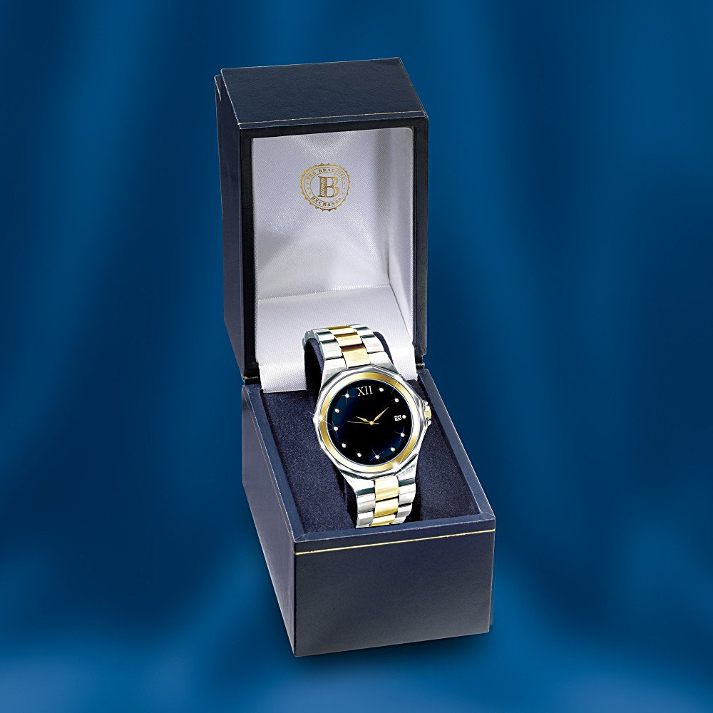 Timeless Love Stainless Steel Men's Watch: Romantic Jewelry Gift For Him by The Bradford Exchange by Bradford Exchange (Image #3)