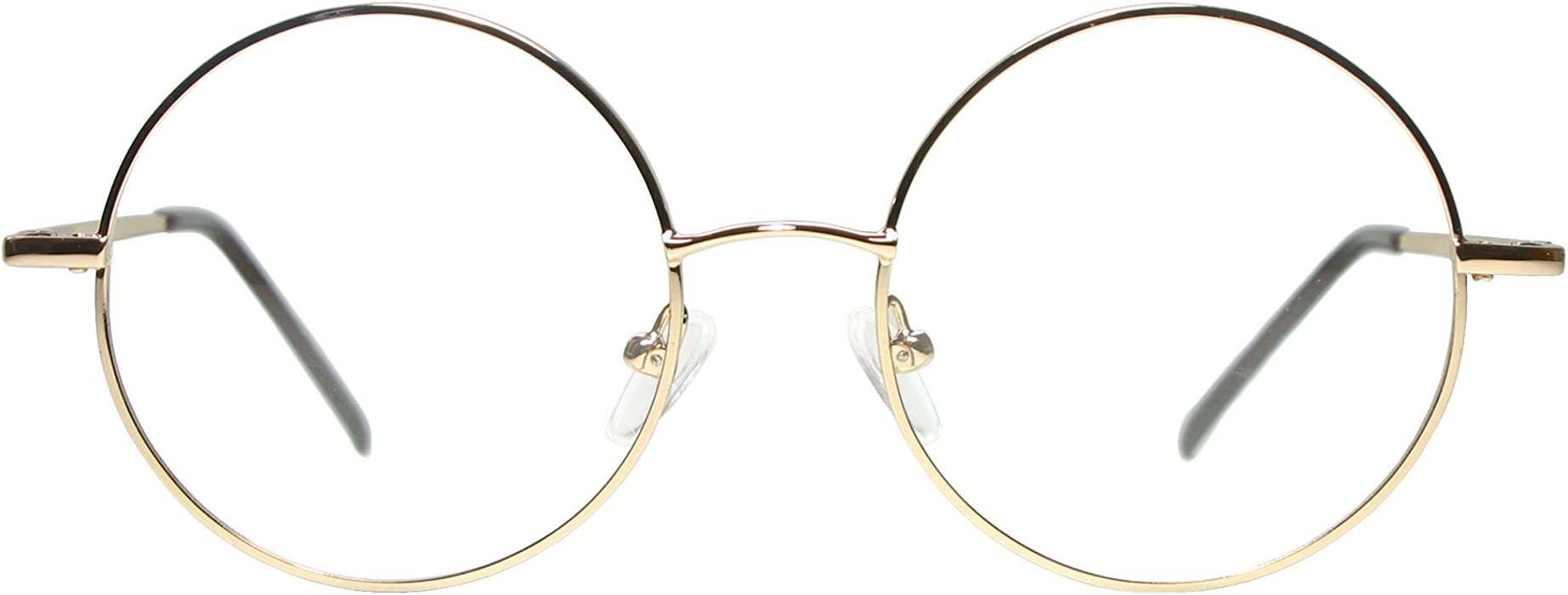 483ff86ee9c Amazon.com  Full Rim Metal Round Eyeglasses Frame (Large Size) - Gold   Clothing