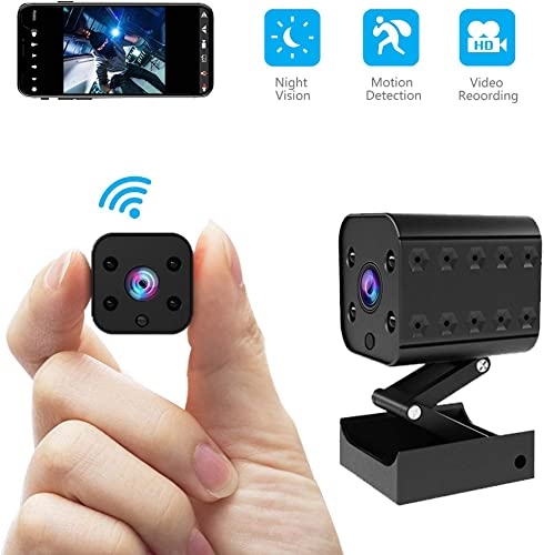 Wireless Hidden Camera Mini WiFi Spy Camera HD 1080P Monitoring Tiny Security Camera Nanny Cam Strong Night Vision Working 7 Hours by Battery Powered