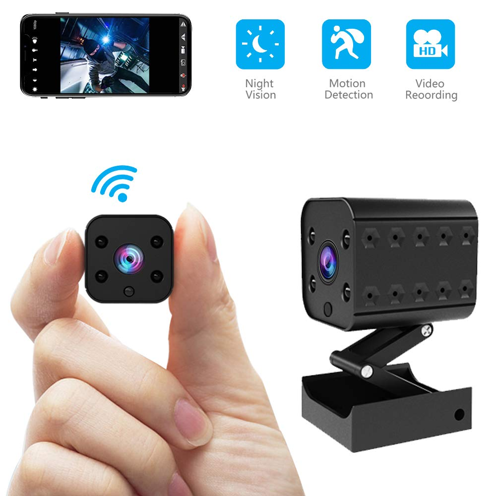 Wireless Hidden Camera Mini WiFi Spy Camera HD 1080P Monitoring Tiny Security Camera Nanny Cam Strong Night Vision Working 7 Hours by Battery Powered by Facamword