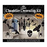 "Glitter Haunted House Chandelier Halloween Trick or Treaty Party Decorating Kit, Paper, 15"" x 17"", Pack of 17."
