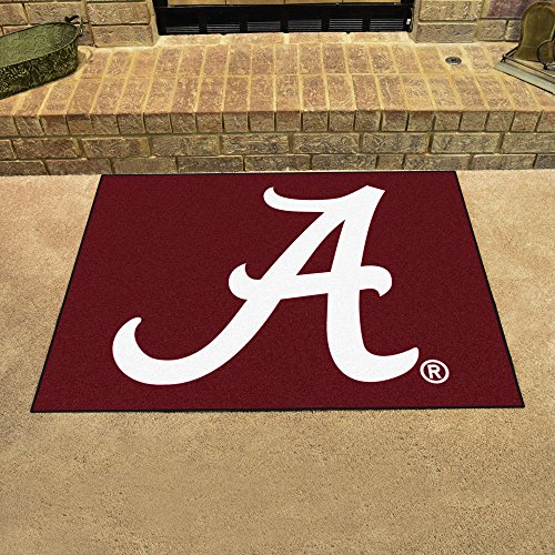 Fanmats Sports Team Logo University of Alabama - Crimson 'A' All-Star Rugs 34