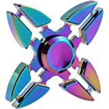 Tri Fidget Hand Spinner Toy,Stress Reducer Ultra Durable High Speed Ceramic Bearing Fidget Finger Toy Can Continue to Rotate for 1-3 minutes - Perfect for ADD / ADHD / Anxiety / Autism And Stress Relief Adult Children,Office Desk Gadget
