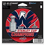 Official Capitals 2018 Stanley Cup Champions 5.5'' Die-Cut Car Magnet