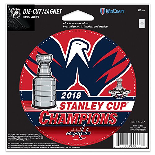 Official Capitals 2018 Stanley Cup Champions 5.5'' Die-Cut Car Magnet by Official