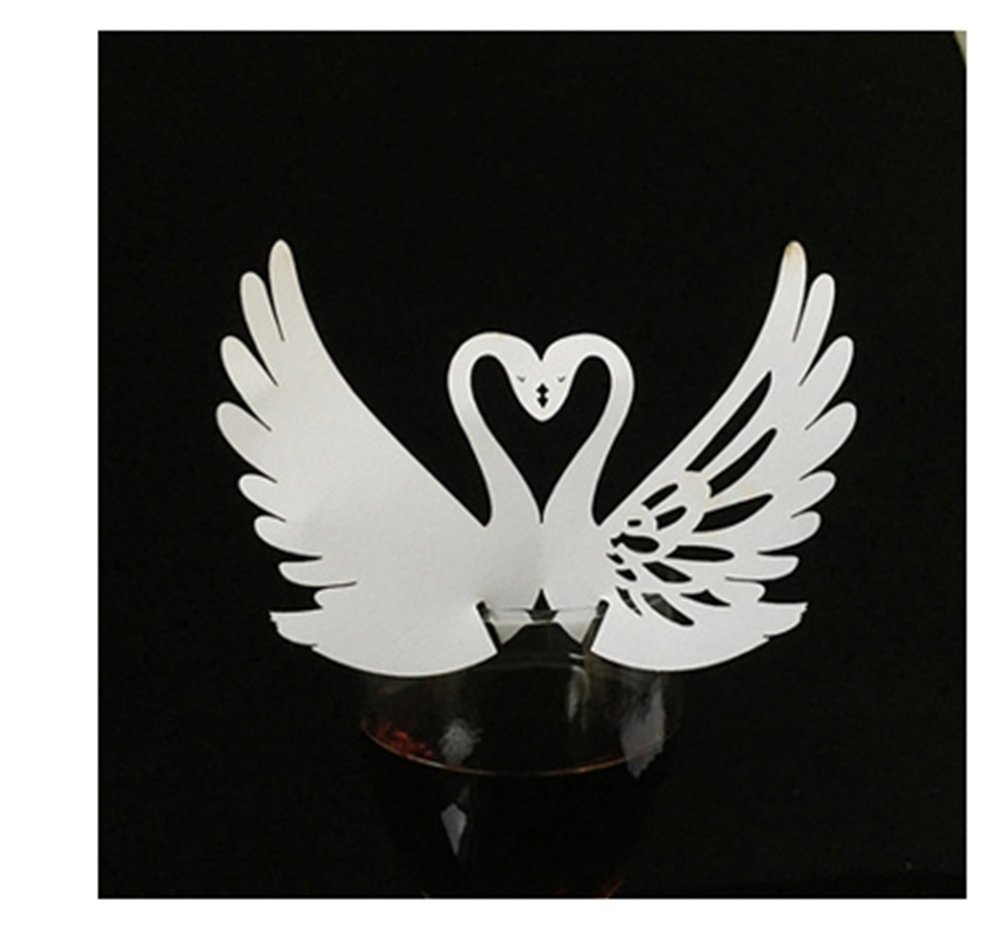 Abaobao®50PCS Laser Cut White Angel Wedding Box in Pearlescent Paper box,party show candy box,party shower gifts,Chocolate Box for Wedding,Birthday,Baby Shower Holy Communion Graduation Party (Angel) R.N.L