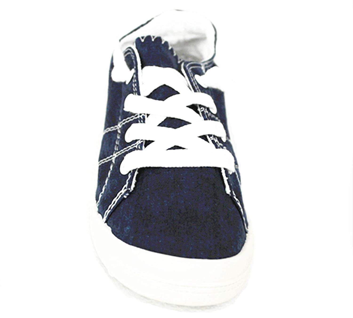Forever Link Comfort Women's Lace up Casual Street Sneakers Flat Shoes B07D6VTK2R 10 B(M) US|Navy-01