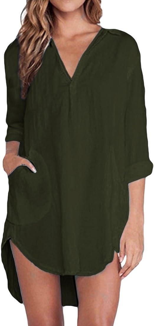 ZANZEA Women Puff Sleeve Casual Floral Print Shirt Button Down Tunic Tops Blouse