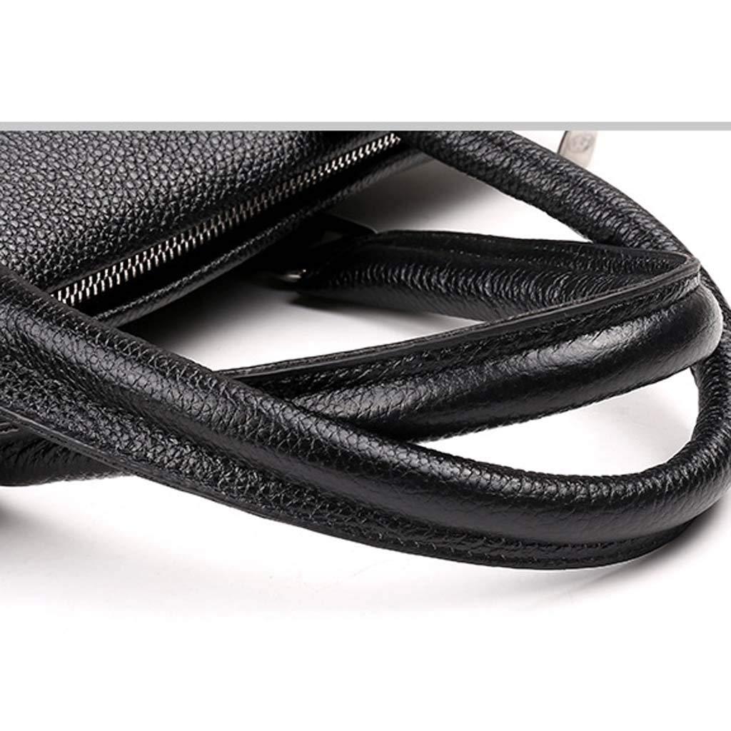 Color : Black, Size : 39cm Cloud Mens Bag Briefcase Business Casual Shoulder Portable Diagonal Computer Bag