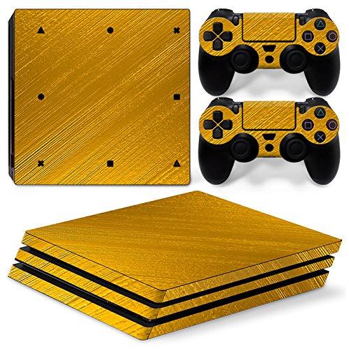 CSBC Skins Sony PS4 Pro Design Foils Faceplate Set - Gold Design