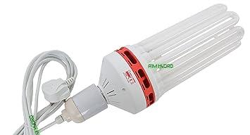 Hydroponics 300w CFL RED Spectrum flowering gardening lighting with bulb holder