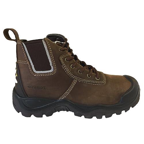 Buckler BHYB2BR Anti-Scuff Safety Work Boots Brown (Sizes 6-13) (