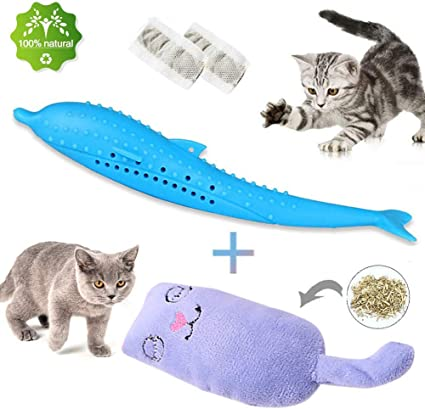 Cat Fish Shape Toy Cat Catnip Toy Cat Funny Scratch Educational Playing Toy