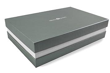 Premium-Geschenkbox Silber 33x8x22 cm Geschenkverpackung Made in Germany