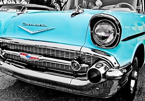 Amazon 1950s Blue Chevrolet Bel Air Front End Fine Art Print