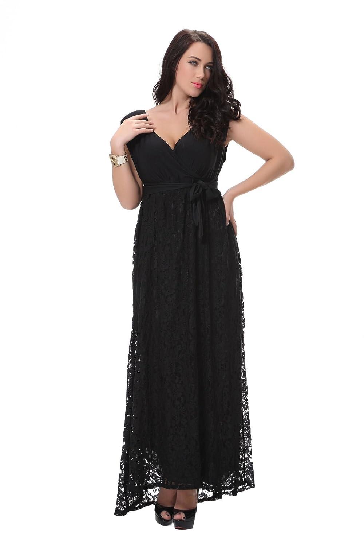 Lanrui Damen Spitzenkleid Cocktailkleid Abendkleid Kleider