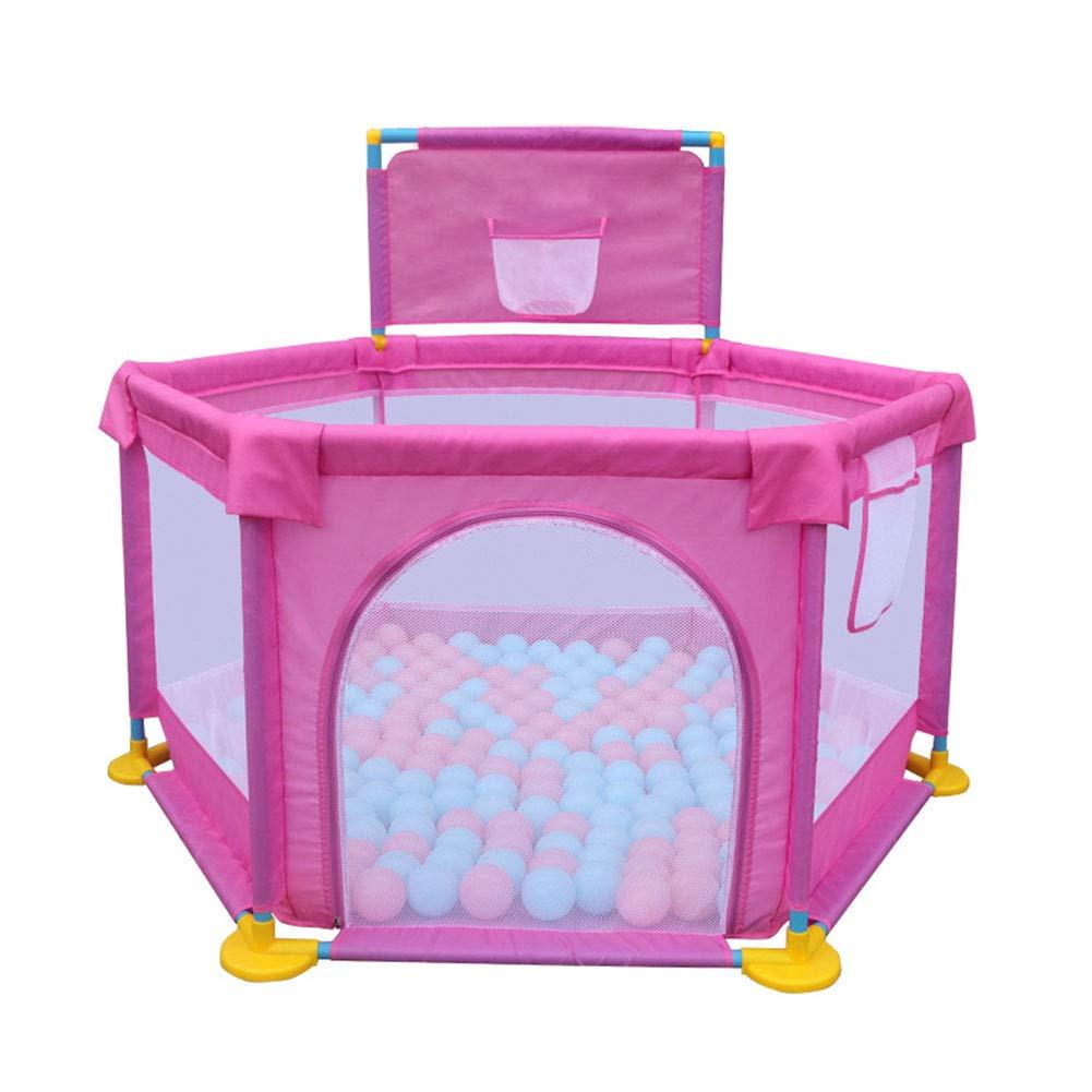 【大放出セール】 ベビープレイペン200ボール、屋内屋外の安定した子供幼児子供ヘビーデューティーフェンス128×66センチメートル (色 : Pink) : Pink) Pink (色 B07KTY5XXY, MERCURY STORE:4d9e865b --- a0267596.xsph.ru