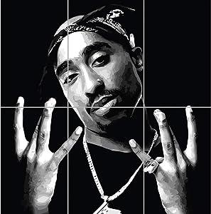 Doppelganger33 LTD 2Pac Tupac Shakur Hip Hop Rapper Poet Actor Activist Legend Music Wall Art Multi Panel Poster Print 35x33 inches