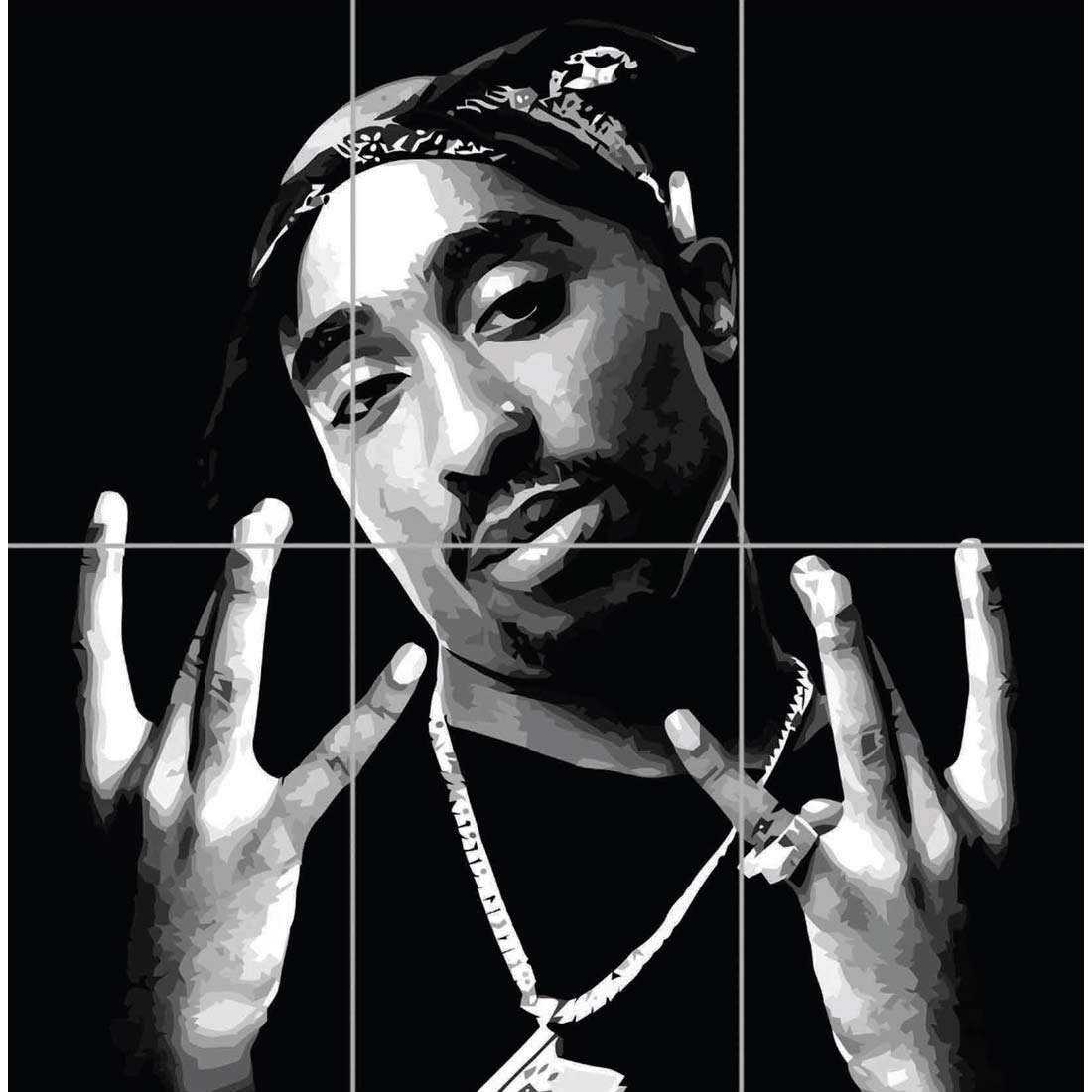 Amazon com 2pac tupac shakur hip hop rapper poet actor activist legend music giant art print poster en819 posters prints