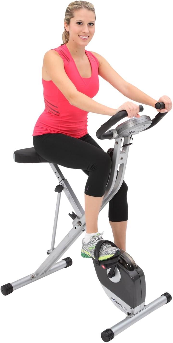 Exerpeutic Folding Upright Excercise Bike