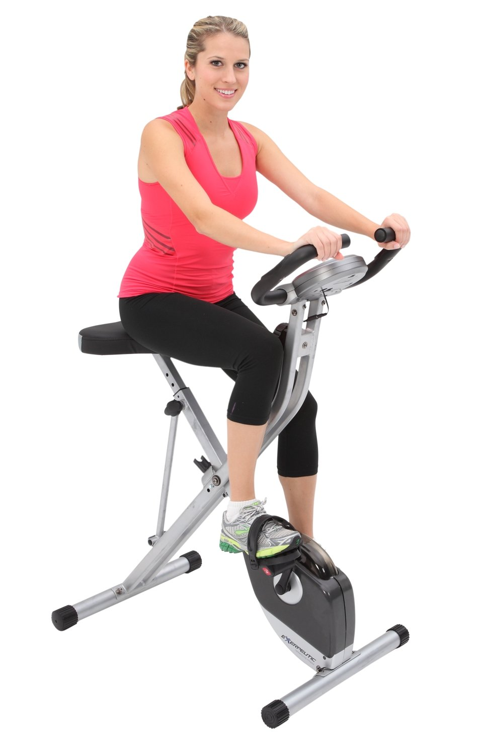 Exerpeutic Folding Magnetic Upright Exercise Bike with 300 lbs Weight Capacity by Exerpeutic (Image #3)