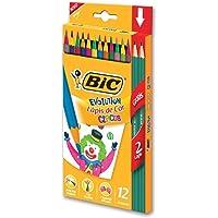 Lápis de Cor Evolution Circus BIC, 904233, 12 Cores + 2 Lápis Grafite