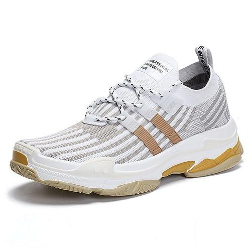 TUOKING Zapatillas de Deporte durables para Hombre Zapatillas de Senderismo Transpirables Calcetines de Calcetines Ligeros Zapatillas para Correr Zapatos ...