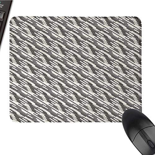 AbstractCustomize Mouse padModern Stripes and Checkered Squares of Different Sizes CompositionCustomized Mouse Pad 9.8