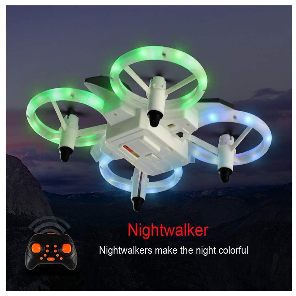 HHoo88 XXD158 2.4GHz Cool Light RC Drone Portable 6-Axis Gyroscope Headless Mode Mini RTF Quadcopter Lightweight Best Xmas Gifts for Kids Christmas(Shipping from US!!!❤️) by HHoo88
