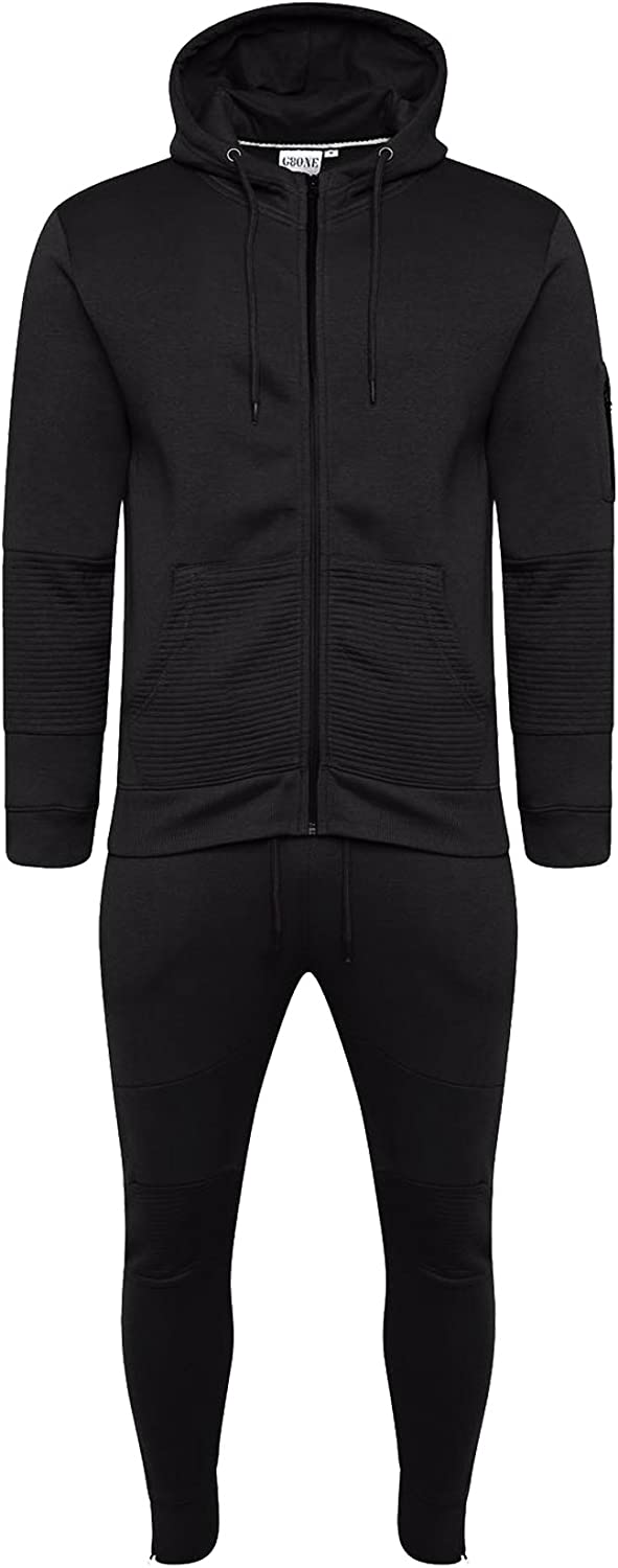 Homeware Outlet Mens Corduroy Patch Panel Cotton Full Zip Up Brushed Hoodie Jogging Joggers Gym Suit Top Bottom Football Boxing Martial Art Exercise Running Workout Training Tracksuit