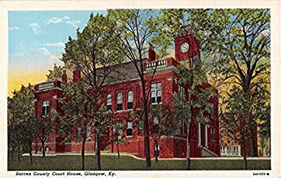 Glasgow Kentucky Barren County Court House antique postcard V4842