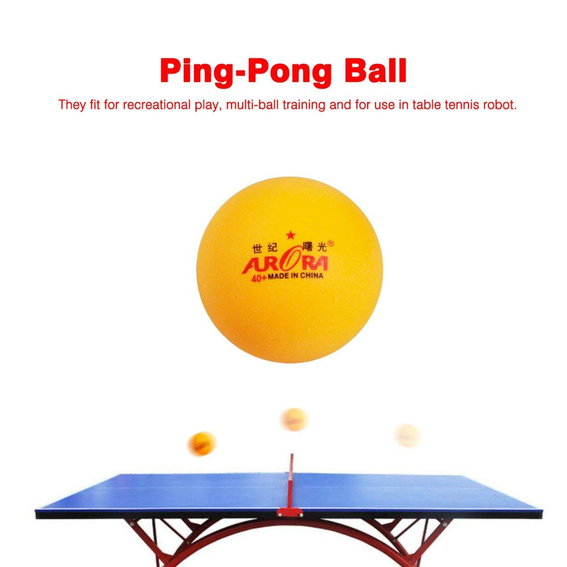 10 Pcs Professional Practice Ping-Pong Ball Table Tennis Ball In Bulk Competition Match Training Equipment Yellow