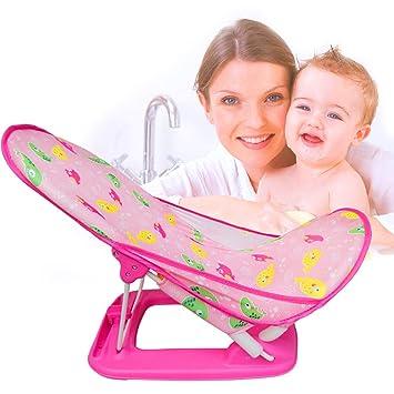 Amazon.com : Infant Adjustable Bath Seat Support Net Bathtub Sling ...