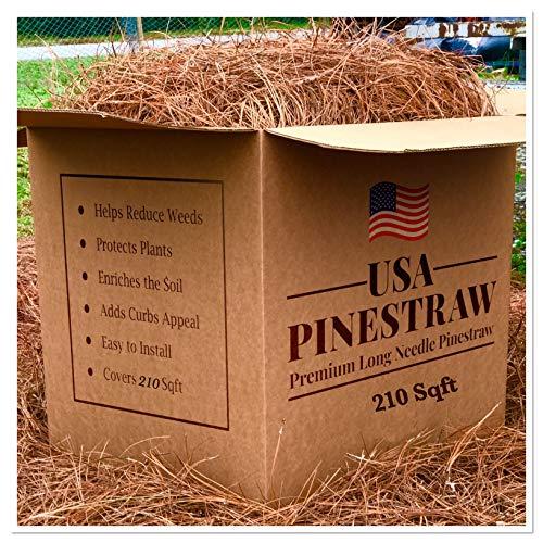 USA Pine Straw | On Sale | Premium Pine Needle Mulch - 210 Sqft.