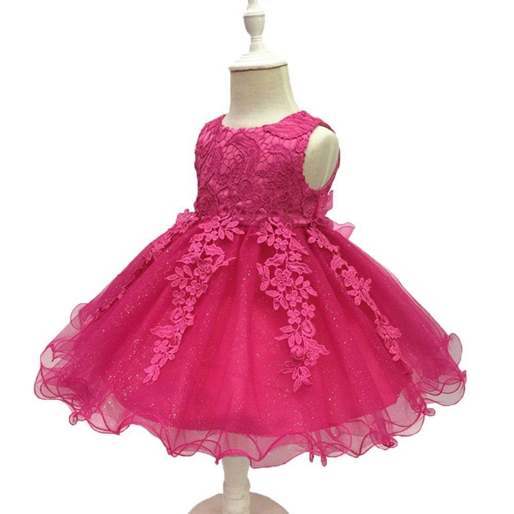 LZH Baby Infant Girls Birthday Christening Dress Baptism Wedding Party Flower Dress